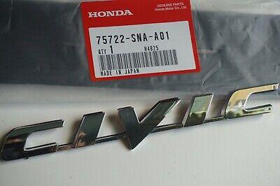 HONDA CIVIC 06-11 Trunk Emblem Rear Badge Nameplate 75722-SNA-A01 logo word SI ()