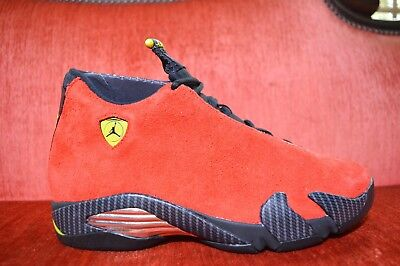 Brand New Nike AIR JORDAN 14 XIV FERRARI RED 2014 654459-670 Size 8 OG ALL