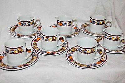 Kopin  Afternoon Tea   Porcelain China Espresso Tea Cups And Saucers Set
