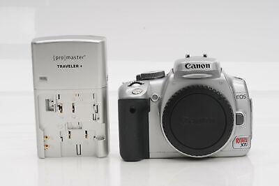 Canon EOS Rebel XTi 10.1MP Digital SLR Camera Body 400D Silver              #520
