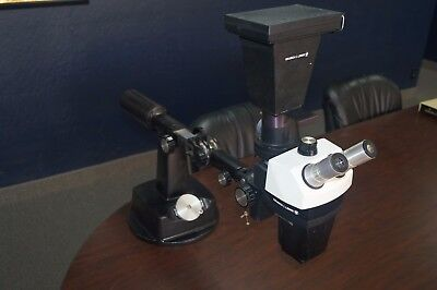 Bausch Lomb Stereozoom 7 Microscope On Stand With Polaroid Adapter