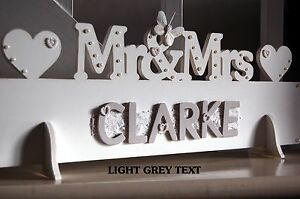 Mr & Mrs Top Table Wedding Wooden Decoration Sign (personalised surname)