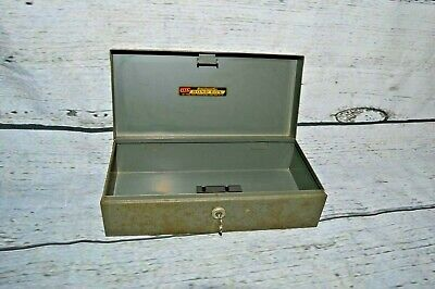 Vintage Asco Steelmaster Cash Box Storage Bond Box With Key