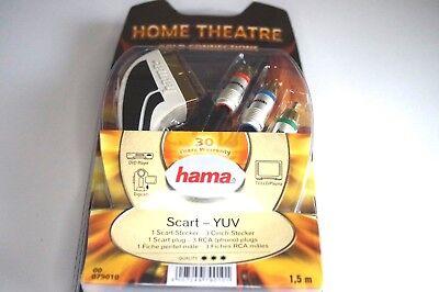 Hama Home Cable de Conexión Euroconector A 3 Rca Adaptador - 1,5...