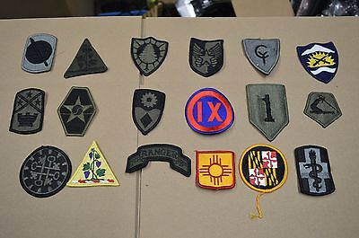 Collector Lot of 41 Different Army, Navy, Air Force, Unit Patches, Insignia