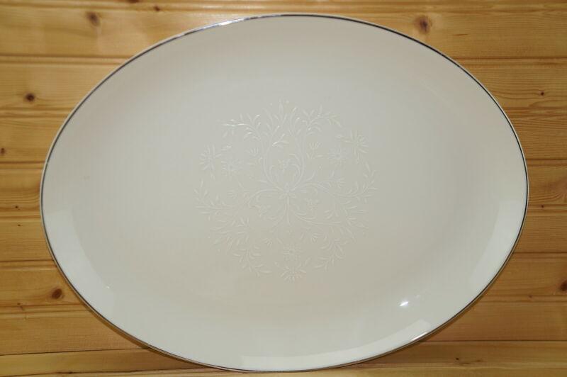 """Pickard Damask Large Oval Serving Platter, 15 5/8"""""""