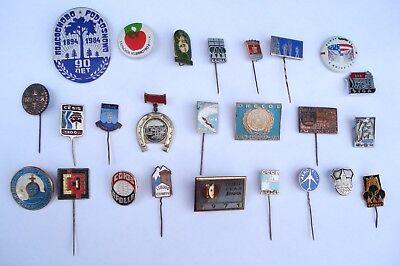 großes Konvolut Abzeichen Pin Anstecker UdSSR & ehemalige Sowjet - Republiken