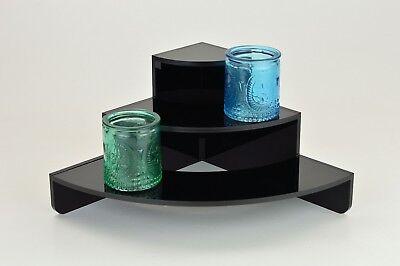 Modern curved corner Black 3 Tier / Step Display Stand / Riser / Plinth PDS9055