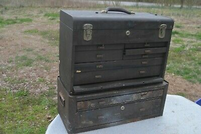 Kennedy Machinist Chest Tool Box 520 Mc22 2-drawer Riser Base Brown Wrinkle