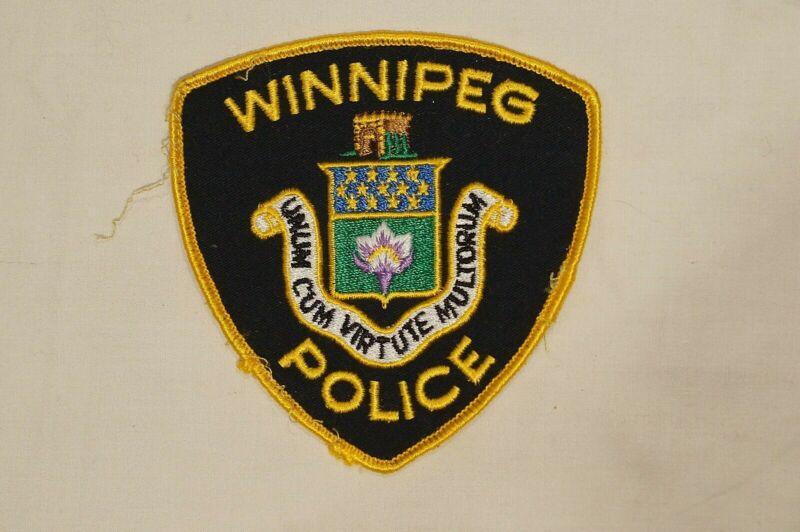 Canadian Manitoba Winnipeg Police Navy Blue & Gold Patch Single