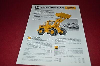 Caterpillar 966D Wheel Loader Dealer's Brochure DCPA6 ver