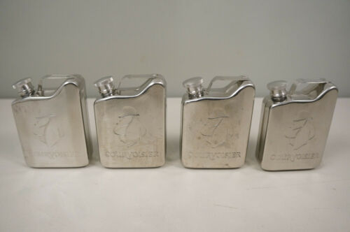 4 Courvoisier Flask Gas Can Stainless Steel
