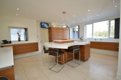 Rational Used Kitchen, Handleless, Corian Worktop, Miele Appliances, Wales