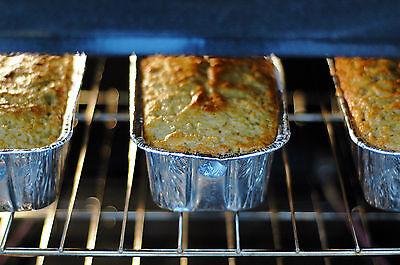 Cakes baking.