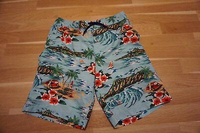 Lands End Jungen Shorts (LANDS END Jungen Bade Shorts Hose Hawaii WAIKIKI Gr 158 164 türkis blau rot )