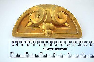 Original Art Nouveau pressed brass furniture mount mirror cartouche emblem H12