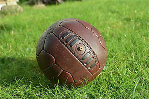 Vintage style mini brown leather football retro footy ball MIND