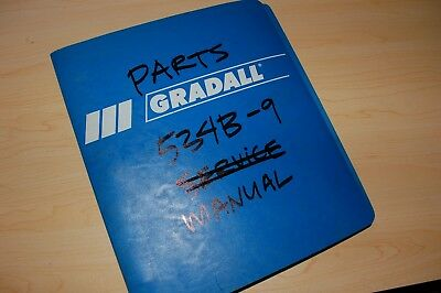 Gradall 534b-9 Telehandler Material Handler Parts Book Manual Catalog List Spare