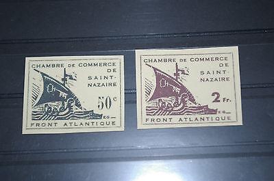 Deutsches Reich *Frankreich St. Nazaire* Mi 1-3 ungeb gelbes + weißes Papier /ND