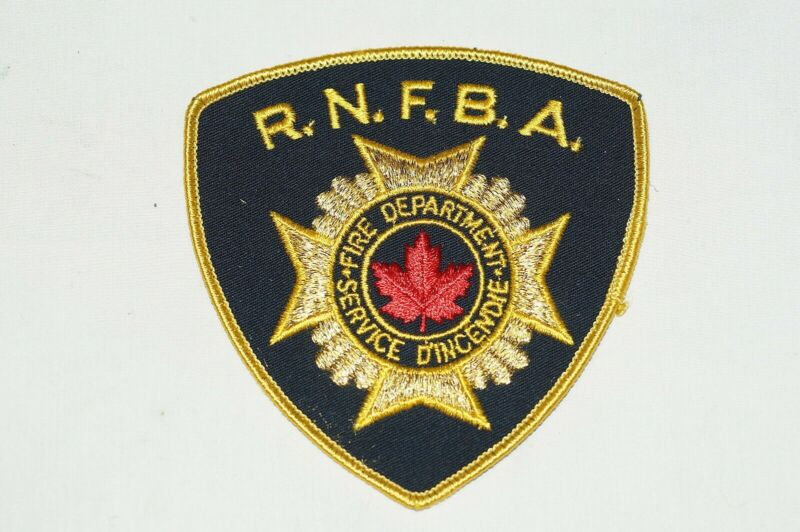 Canadian RNFBA Fire Department Patch