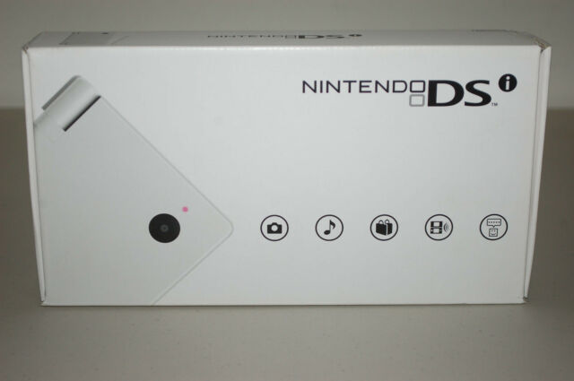 New Nintendo DSi White Handheld Wi-Fi Game System Console wt Video Camera Sealed