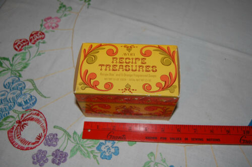 VTG Avon Recipe Treasures Box and Orange Soaps NOS