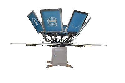Silk Screen Printing Machine 8 Color 8 Station Silk Screen Press Printer New