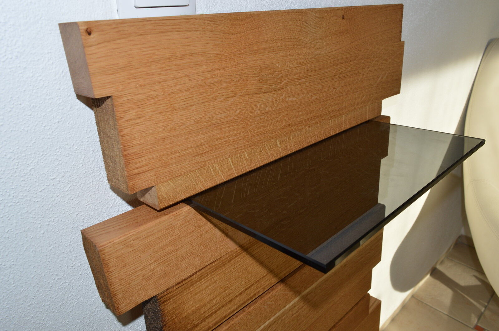 design wandboard eiche massiv holz board regal glasregal regalbrett neu eur 450 00. Black Bedroom Furniture Sets. Home Design Ideas