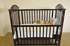 Cot Bed (dark natural timber) with latex mattress Kyle Bay Kogarah Area Preview