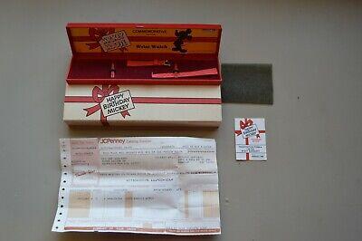 Vintage Happy Birthday Mickey Mouse Wrist Watch Bands Packaging Disney Bradley