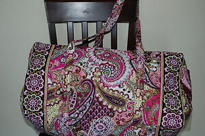 NEW WITH TAGS VERA BRADLEY VERY BERRY PAISLEY SMALL  DUFFEL DUFFLE **USA SELLER*