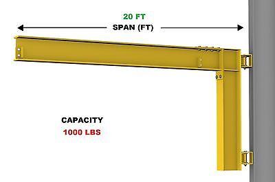 Gorbel Cantilever Jib Crane - 12 Ton Capacity Span 20 Ft Wall Mounted