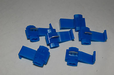 10 x Blue Scotch Locks Splice Wire Cable Electrical Connector Terminal 14-16 AWG
