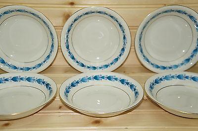 """Castleton Classic Blue (6) Fruit, Berry, Sauce or Dessert Bowls 5 5/8"""""""