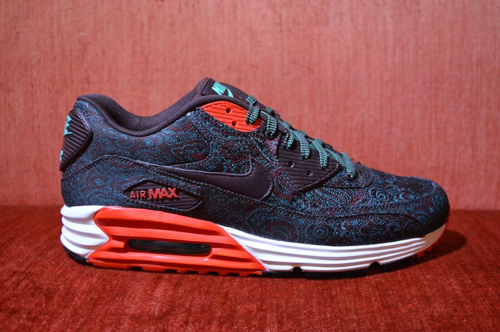 WORN ONCE Nike Air Max Lunar 90 PRM QS Suit And Tie Paisley Size 10 705068 601