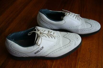 men's Niblick golf shoes white size UK 7.5 Vermont Whitehorse Area Preview