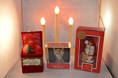 Christmas Lot Tree Bulbs Angel & Classic Electric Candles Lenox