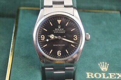 1960 ROLEX EXPORER vintage watch 1560 movement 1002 H bracelet Mens 34mm w BOX