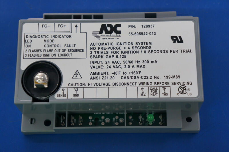 887133/128937 24V Ignition Box, AD-236 DSI MODULE For ADC dryer