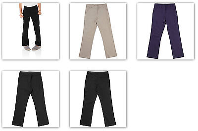 Navy Girls Flat Front Pant - -George School Uniform girls flat front Pant Dark Navy / Warm Beige / Black Soot