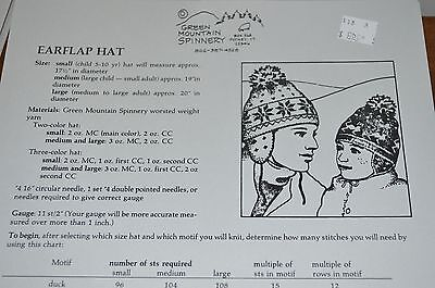 - Green Mountain Knitting Pattern Earflap Hat