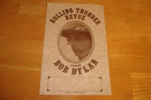 Bob Dylan 2002 Rolling Thunder Revue Columbia Records Promo REPLICA