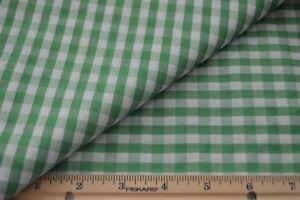 Fabric - Green Gingham 1/4