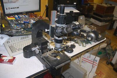 Vintage Leitz Ortholux Trinocular Polarizing Microscope Wmany Arcane Functions