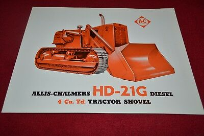 Allis Chalmers H-3 HD-3 Crawler Tractor Dealer/'s Brochure YABE15