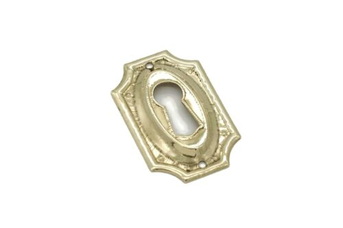 1 5/8 Keyhole Cover Plate Escutcheon Furniture Brass Key Hole Lock Plate