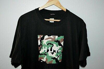 HUF Camo Box Logo Unworn Graphic T-Shirt Mens Large Skate Streetwear