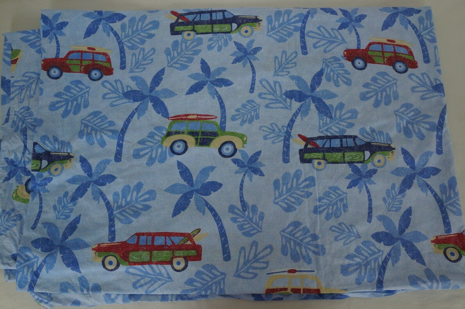 twin duvet cover cars vehicles palm trees