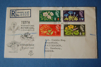 GB - FDC 1964 - BOTANICAL CONGRESS ordinary set of stamps