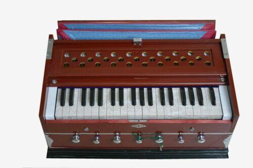 Indian Harmonium 7 Stopper Double Bellow 39 Key 440Hz Long Sustain Sound Laying